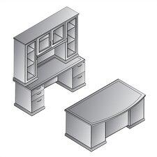 Mendocino 3-Piece Standard Desk Office Suite