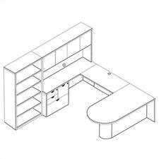 Kenwood 3-Piece U-Shape Desk Office Suite