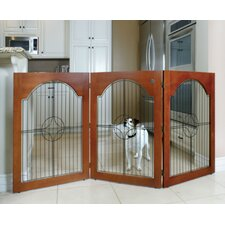 Universal Freestanding Wood & Wire Pet Gate