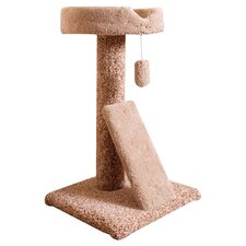 "30"" Carpeted Ramp Claw Bed Cat Perch"