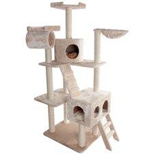"73"" Casita Fur Cat Tree"