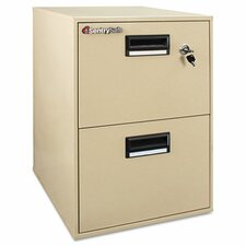 2-Drawer Fireproof Key Lock File Safe