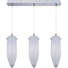 White Cirrus 3-Light RapidJack Pendant and Canopy