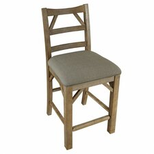 """West Valley 24"""" Bar Stool with Cushion (Set of 2)"""