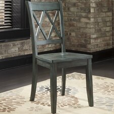 Mestler Side Chair in Antique Green (Set of 2)
