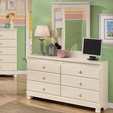 Cottage Retreat 6 Drawer Dresser with Mirror