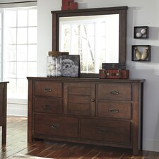 Ladiville 6 Drawer Combo Dresser with Mirror