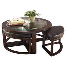 Machias 5 Piece Coffee Table & Stool Set
