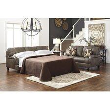 Kannerdy Queen Leather Sleeper Sofa