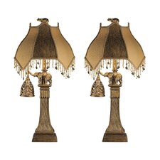 "Dillian 31.25"" H Table Lamp with Novelty Shade (Set of 2)"