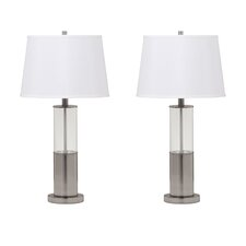 "Norma 28"" H Table Lamp with Empire Shade (Set of 2)"