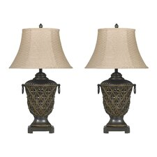 """Redella 32"""" H Table Lamp with Bell Shade (Set of 2)"""