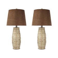 "Haldis 30"" H Table Lamp with Empire Shade (Set of 2)"