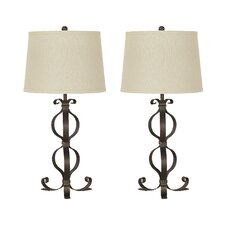 "Simeron 28.5"" H Table Lamp with Empire Shade (Set of 2)"