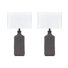 "Patience 25"" H Table Lamp with Square Shade (Set of 2)"