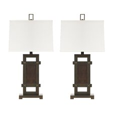 """Sesen 30.6"""" H Table Lamp with Rectangular Shade (Set of 2)"""