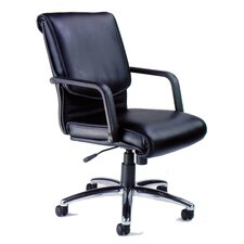 Mercado Alliance Mid-Back Leather Conference Chair with Arms
