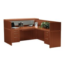 Aberdeen Series L-Shape Reception Desk