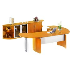 Napoli Series 2-Piece Desk Office Suite
