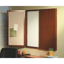 Sorrento Series Presentation Enclosed Magnetic Whiteboard, 4' x 4'