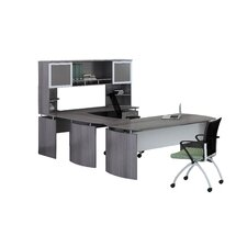 Medina Series U-Shape Computer Desk with Hutch