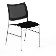 Escalate Stacking Chair with Mesh Back and Plastic Seat (Set of 4)