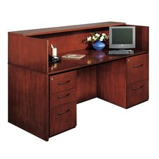 Corsica Series Rectangular Reception Desk