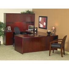 Luminary Series U-Shape Executive Desk with Hutch