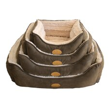 Faux Leather Square Dog Bed (Set of 6)