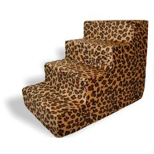 Animal Print 4 Step Pet Stair (Set of 2)
