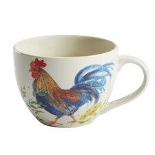 Garden Rooster Stoneware Beverage Mug (Set of 2)