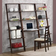 """Arlington 72.4"""" Leaning Bookcases and Desk"""
