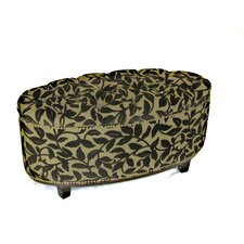 Ora Oval Ottoman Bench in Brown Flock