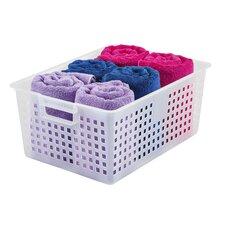 Extra Large Plastic Storage Basket (Set of 6)