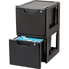 Premier Stacking File Storage Drawer with Lock (Set of 2)