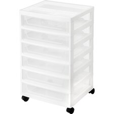 6-Drawer Scrapbook Cart with Organizer Top