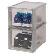 Drop Front Shoe Storage Box (Set of 6)