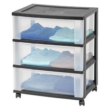 3 Drawer Wide Storage Cart