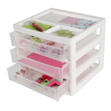 3 Drawer Scrapbook Storage Chest