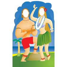 Life-Size Stand-Ins Hawaiian Couple Cardboard Stand-Up