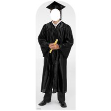Life-Size Stand-Ins Male Graduate Cap and Gown Stand-Up