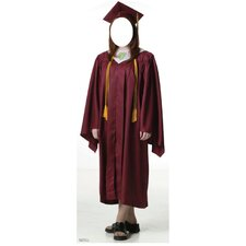 Life-Size Stand-Ins Female Graduate Cap and Gown Stand-Up