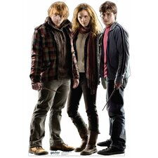Harry Potter Ron, Hermione, Harry Cardboard Stand-Up