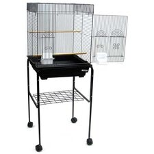 Flat Top Small Bird Cage with Stand