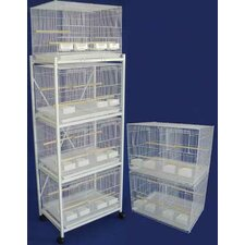 Six Small Bird Cage with 4 Feeder Doors