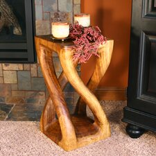 Thai Hand Carved Vine Twist End Table