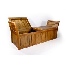 Teak Enclosed Inlay Bench