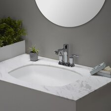 Elavo™ Ceramic Flared Rectangular Undermount Bathroom Sink with Overflow