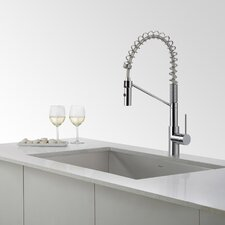 "31.5"" x 18.5"" Undermount Stainless Steel Sinks with Pull Down and Bar Faucets"