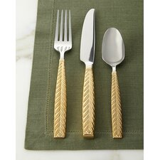 Feather Gold Accent Place Setting